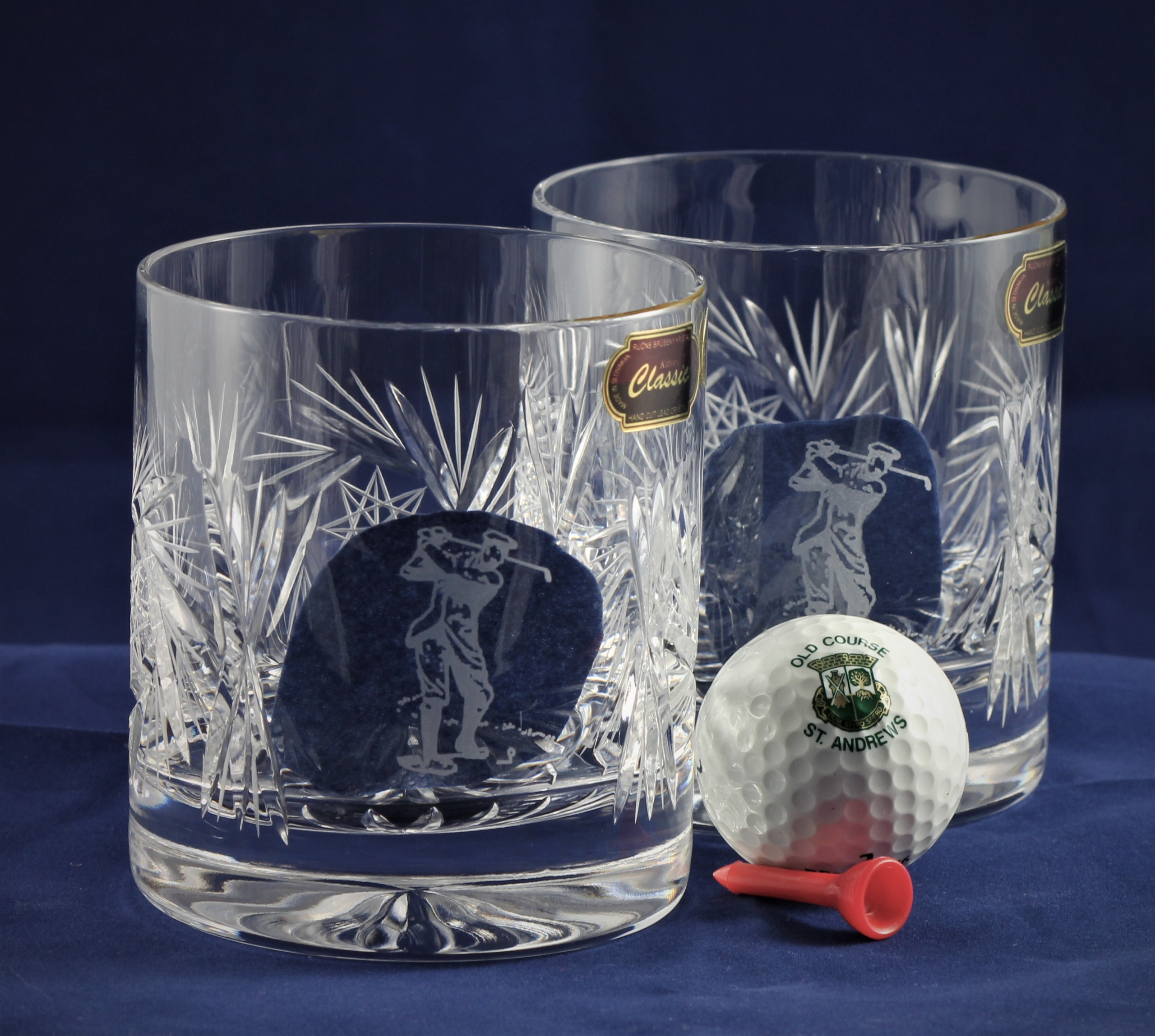 19th Hole Crystal Whisky Glasses Cristalopolis Bleikristall Shop